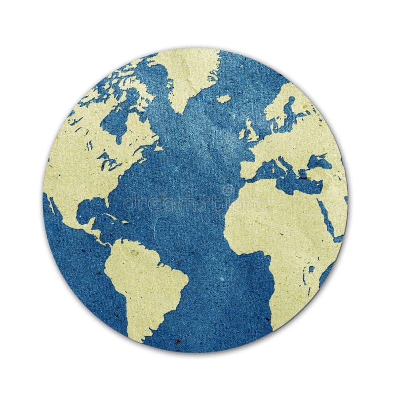 Ofício de papel recicl mundo do Tag imagens de stock royalty free