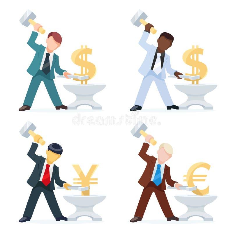 Ofício do dinheiro imagens de stock