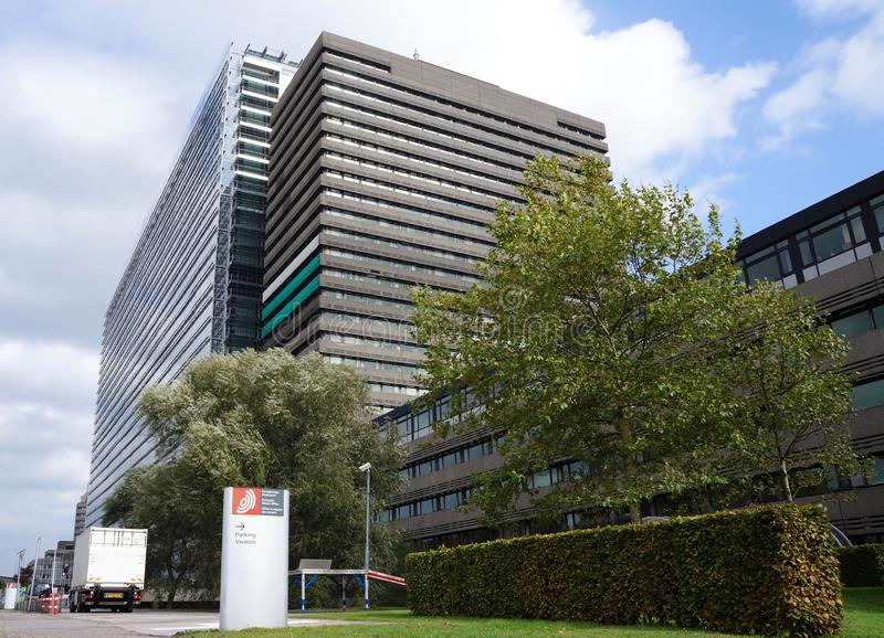 Ofício Europeu de Patentes, EPO, em Rijswijk os Países Baixos fotografia de stock