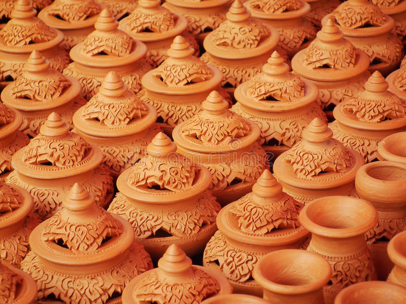 Ofícios, cerâmica dos povos tailandeses. imagens de stock