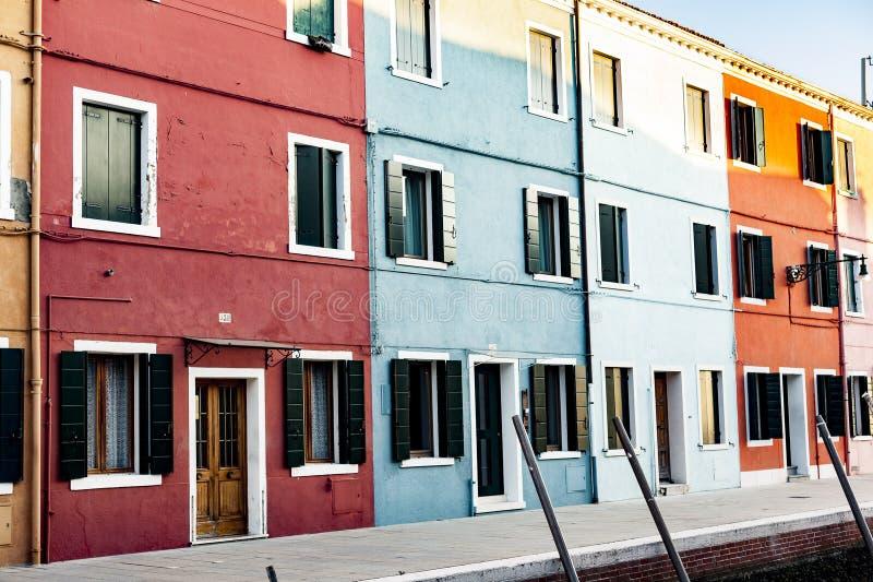 OfBurano de village de pêcheurs, Venise, Italie photo stock