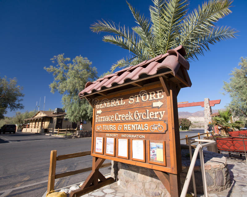 Ofen-Nebenfluss Death Valley stockbild