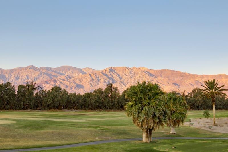 Ofen-Nebenfluss-Golfplatz, Death Valley stockbilder
