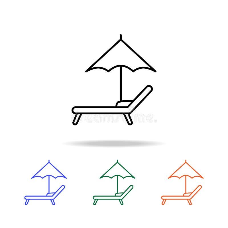 Ofen- und Liegenikone Elemente der einfachen Netzikone in der multi Farbe Erstklassige Qualitätsgrafikdesignikone Einfache Ikone  vektor abbildung