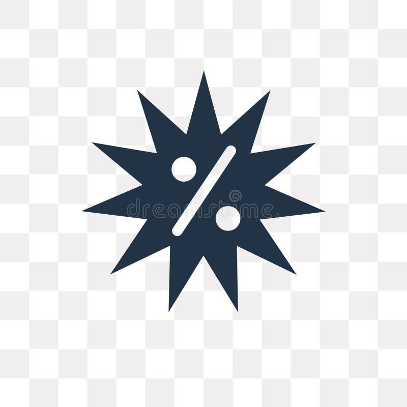 Ofereça o ícone do vetor isolado no fundo transparente, tra da oferta ilustração royalty free