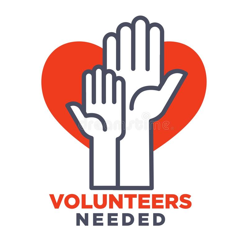 Oferece o cartaz agittive necessário para juntar-se para a caridade ilustração royalty free