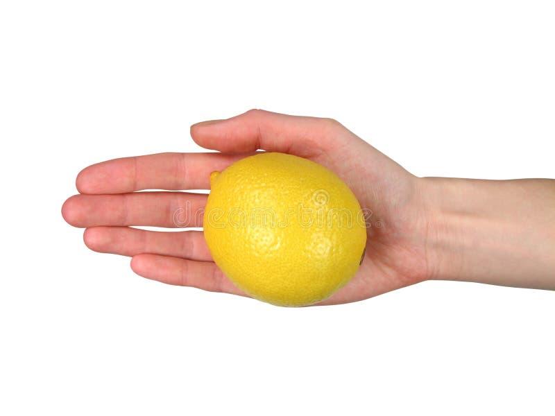 Oferecendo um limão (+ grampeamento) imagens de stock