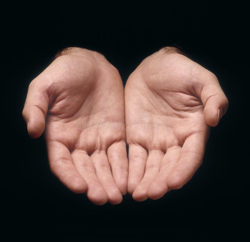 Oferecimento das mãos fotografia de stock royalty free