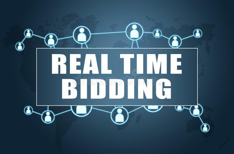Oferecimento do tempo real ilustração stock