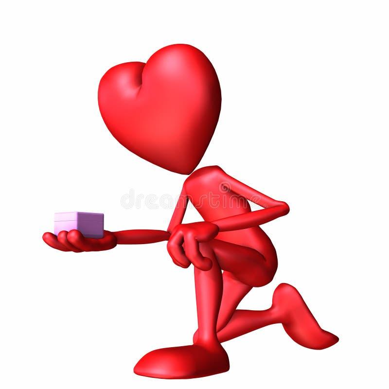 Oferta 1 de la tarjeta del día de San Valentín ilustración del vector