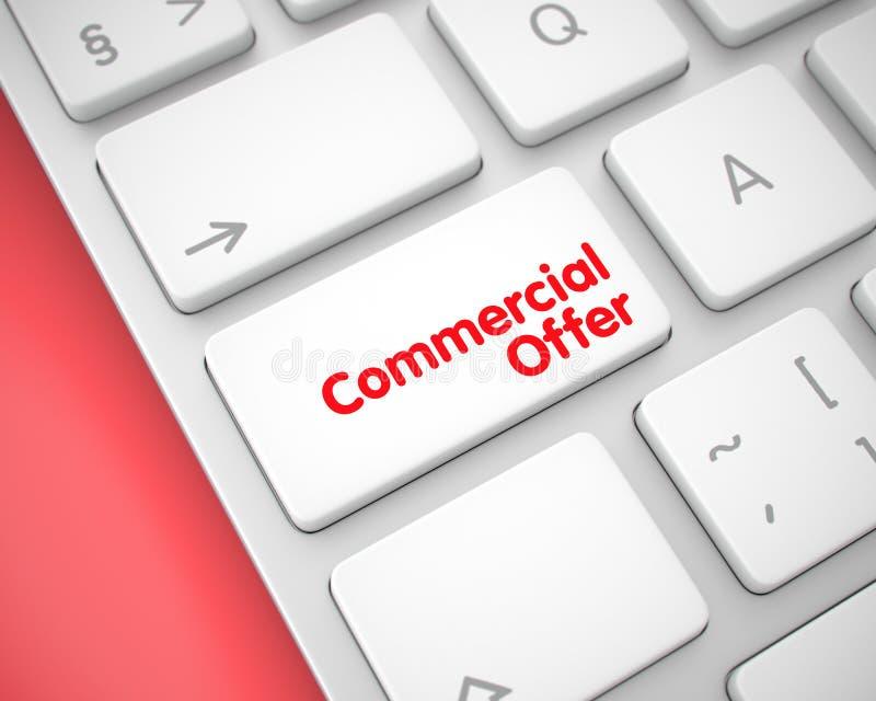 Oferta comercial - mensaje en el bot?n blanco del teclado 3d libre illustration