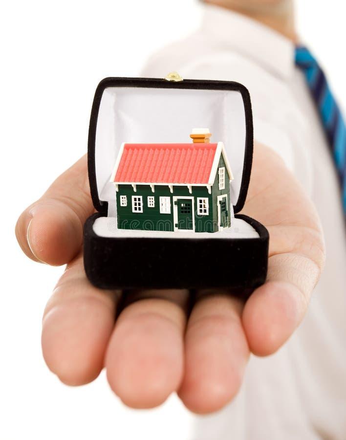 Oferta da oferta dos bens imobiliários fotografia de stock royalty free