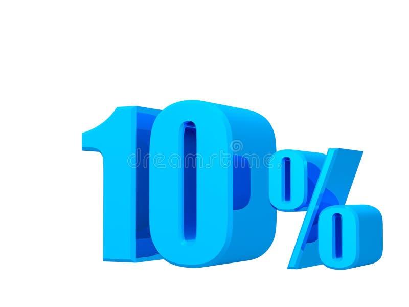 oferta de 10%, preço de oferta, desconto, rendição 3D no fundo branco ilustração stock