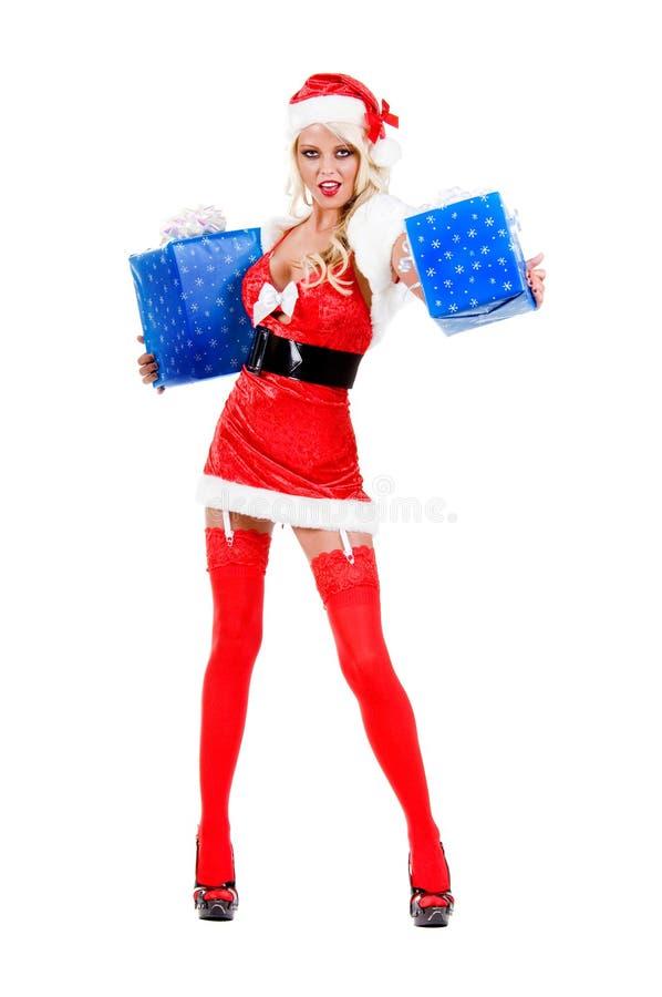 Oferta del regalo de la Navidad fotos de archivo