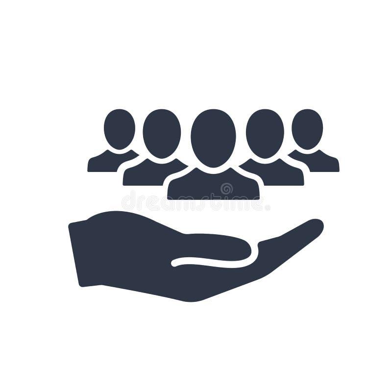 Oferta do serviço - serviço comunitário - ícone mínimo ilustração do vetor