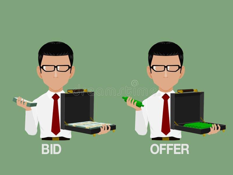 Oferta e oferta ilustração royalty free