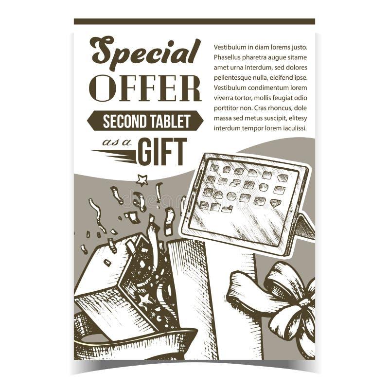 Oferta Especial Caixa de Presente Anuncie Vetor de Pôster ilustração do vetor