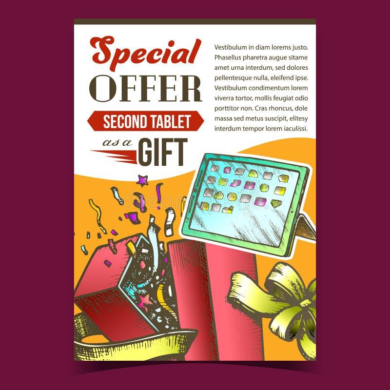 Oferta Especial Caixa de Presente Anuncie Vetor de Pôster ilustração royalty free