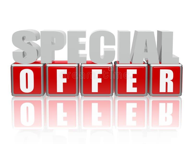 Oferta especial - cartas y cubos stock de ilustración