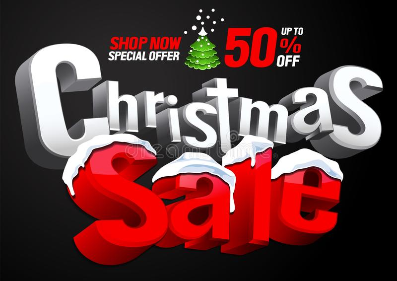 Oferta especial de la venta de la Navidad libre illustration