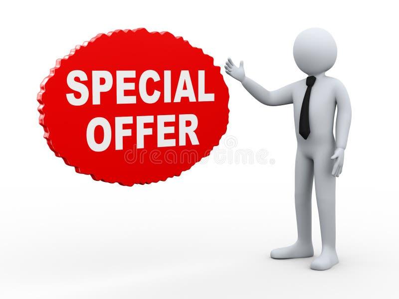 oferta especial del hombre de negocios 3d stock de ilustración