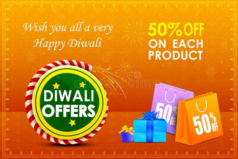 Oferta feliz del día de fiesta de Diwali stock de ilustración