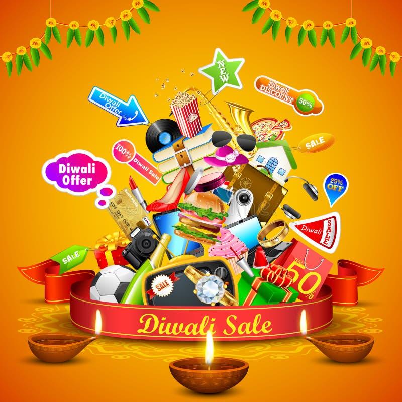 Oferta festiva de Diwali stock de ilustración