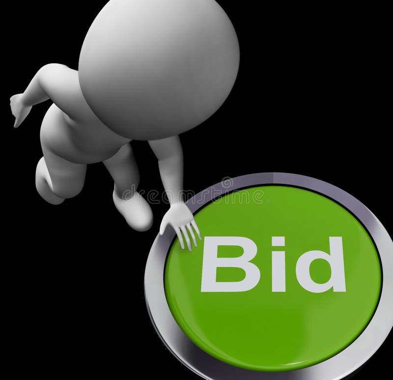 Oferta guzika przedstawień Aukcyjny kupienie I sprzedawanie ilustracji