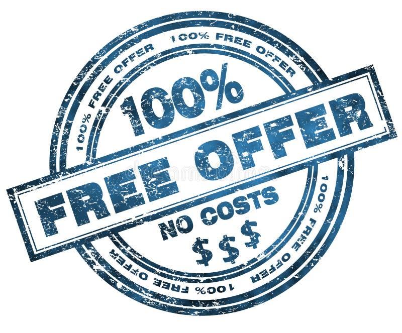 Oferta libre 100% del sello stock de ilustración