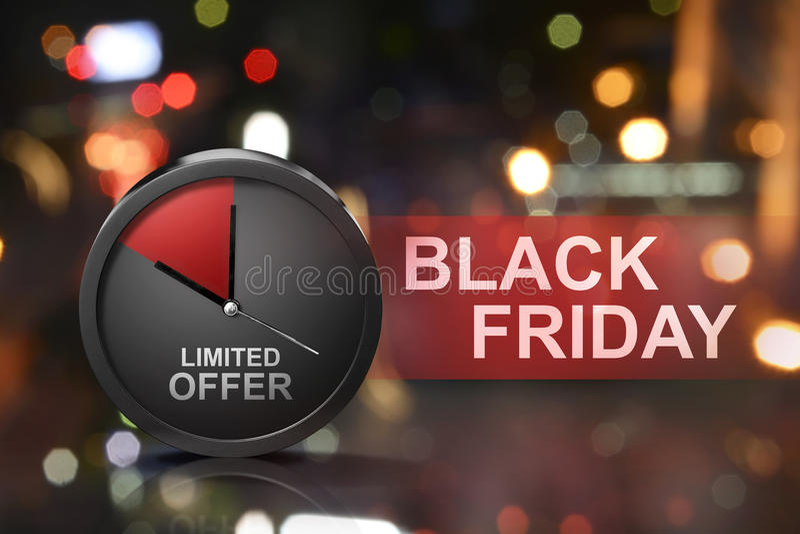 Oferta limitada na mensagem de Black Friday imagem de stock royalty free