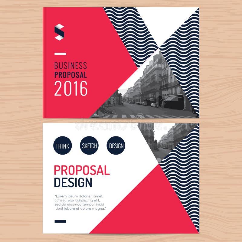 Oferta limpia moderna del negocio, informe anual, folleto, aviador, prospecto, plantilla corporativa del diseño de la presentació stock de ilustración