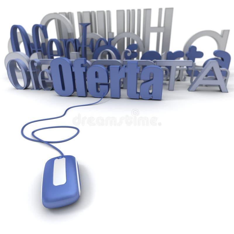 Oferta in linea illustrazione vettoriale