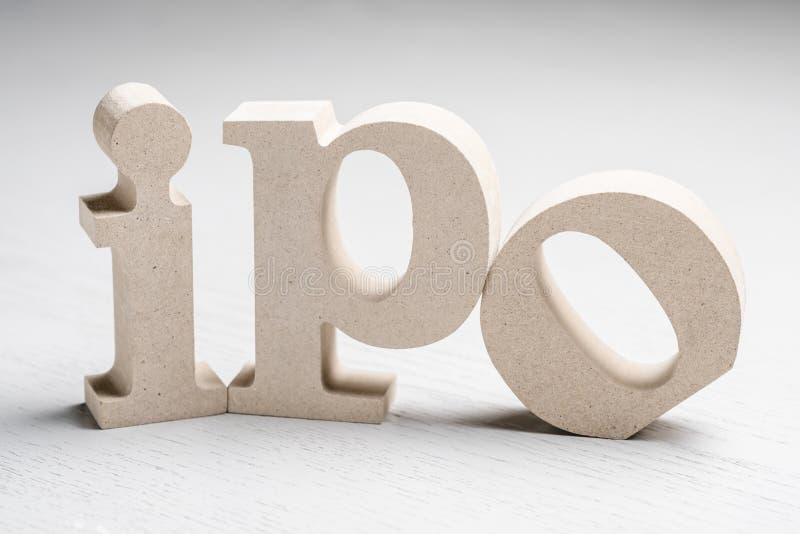 Oferta pública inicial de IPO imagen de archivo