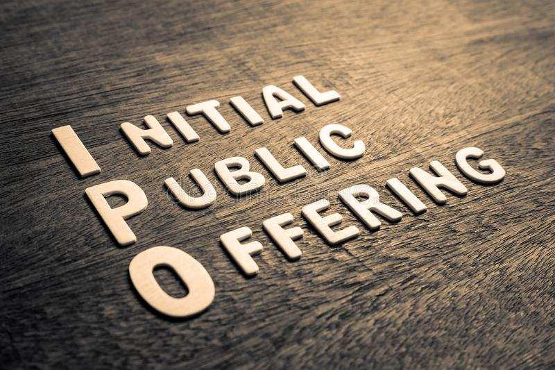 Oferta pública inicial IPO foto de archivo libre de regalías