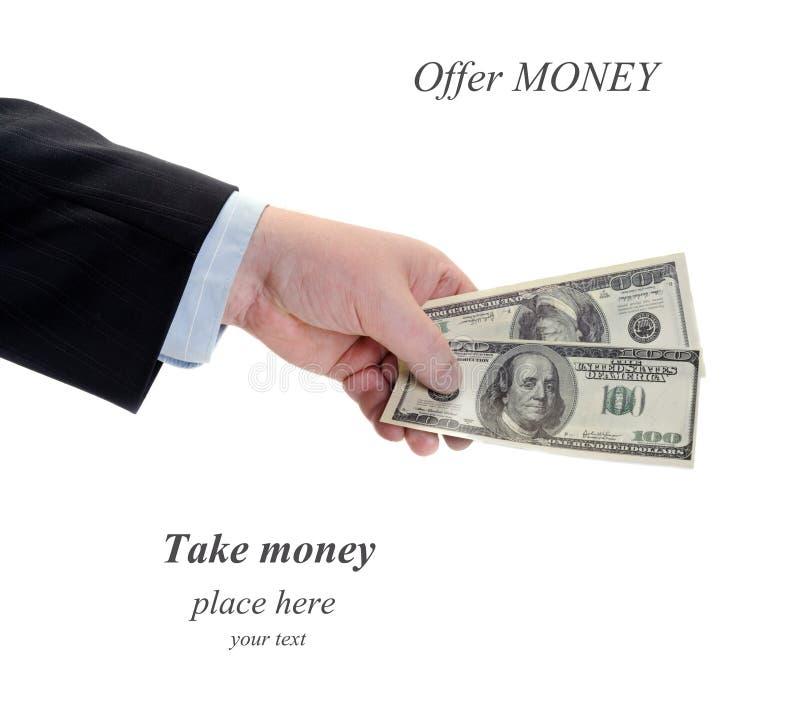 Oferta pieniądze obrazy royalty free
