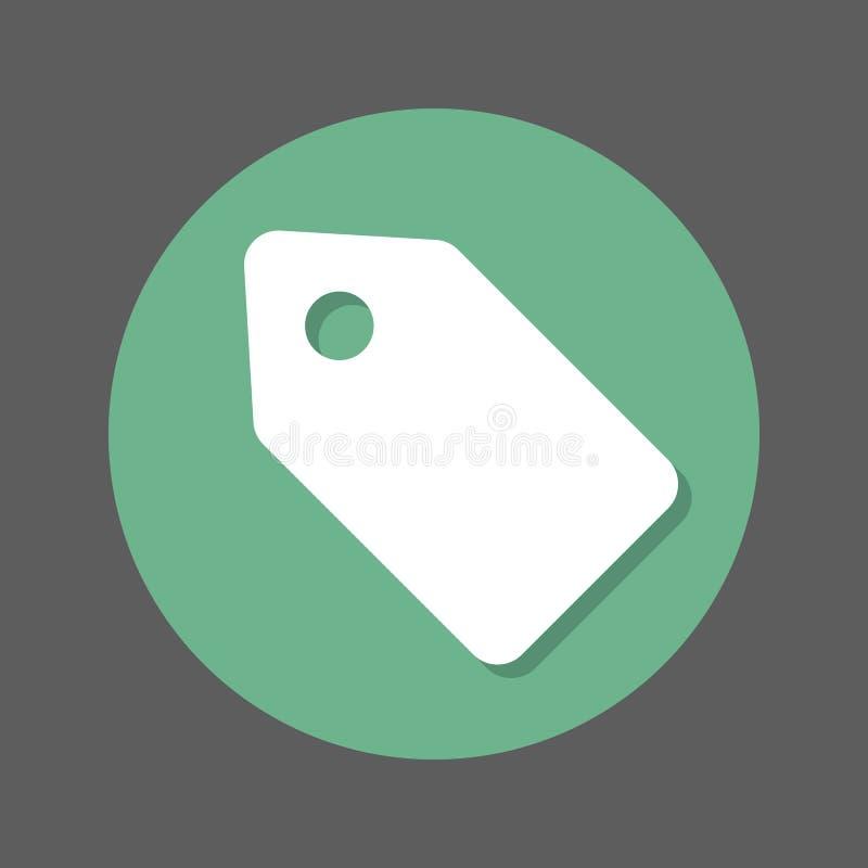 Oferta talon, etykietki mieszkania ikona Round colourful guzik, kółkowy wektoru znak z cienia skutkiem Mieszkanie stylu projekt ilustracja wektor