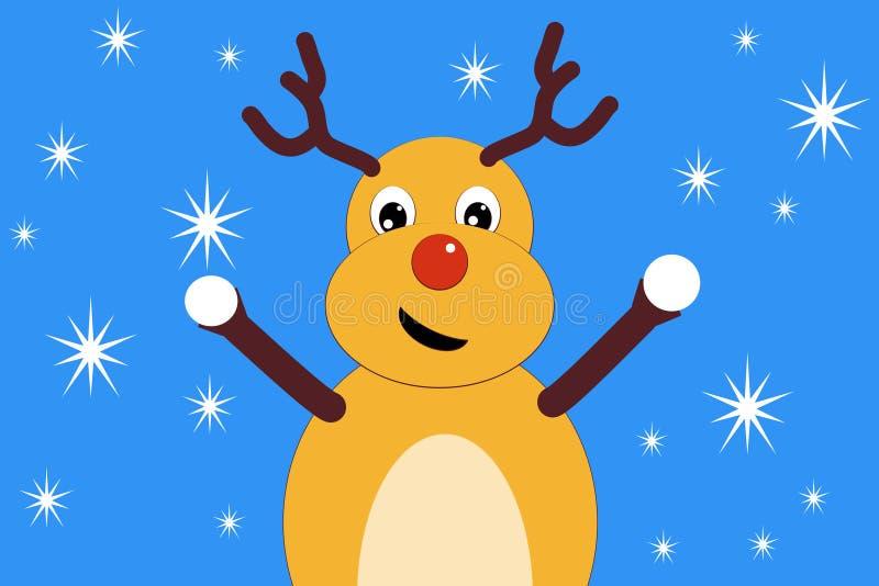 Ofertas dos cervos do Natal para jogar bolas de neve fotos de stock royalty free