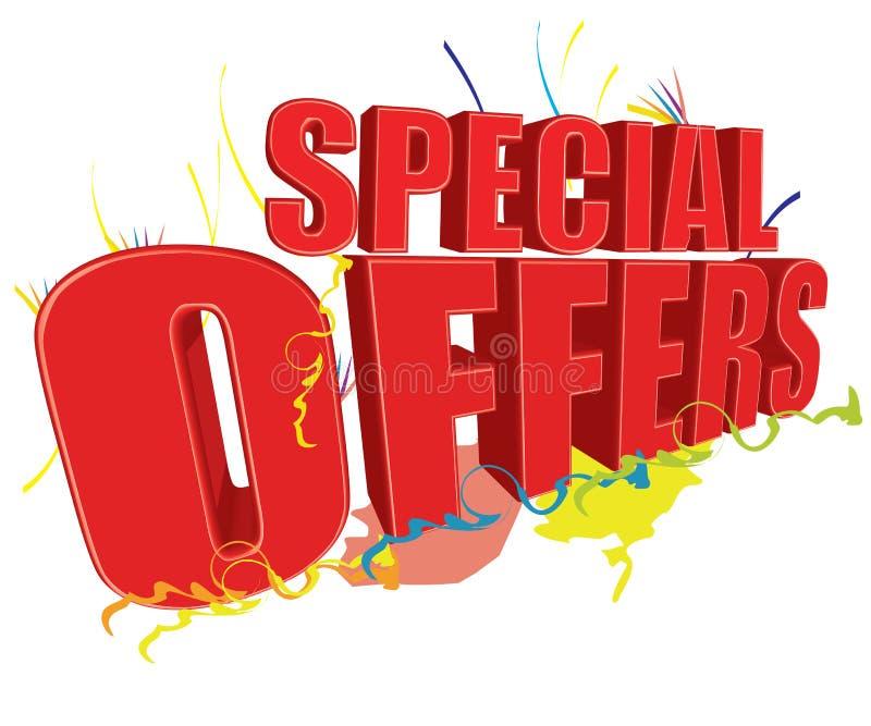 Ofertas especiais 3D ilustração stock