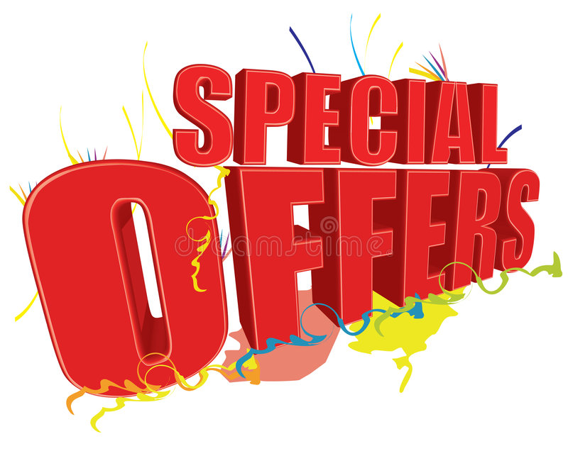 Ofertas especiales 3D stock de ilustración