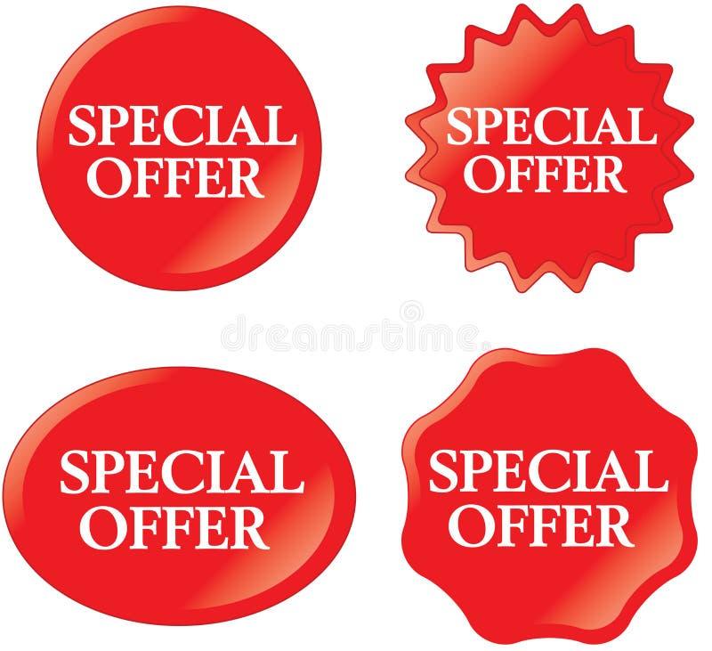 oferty dodatek specjalny royalty ilustracja
