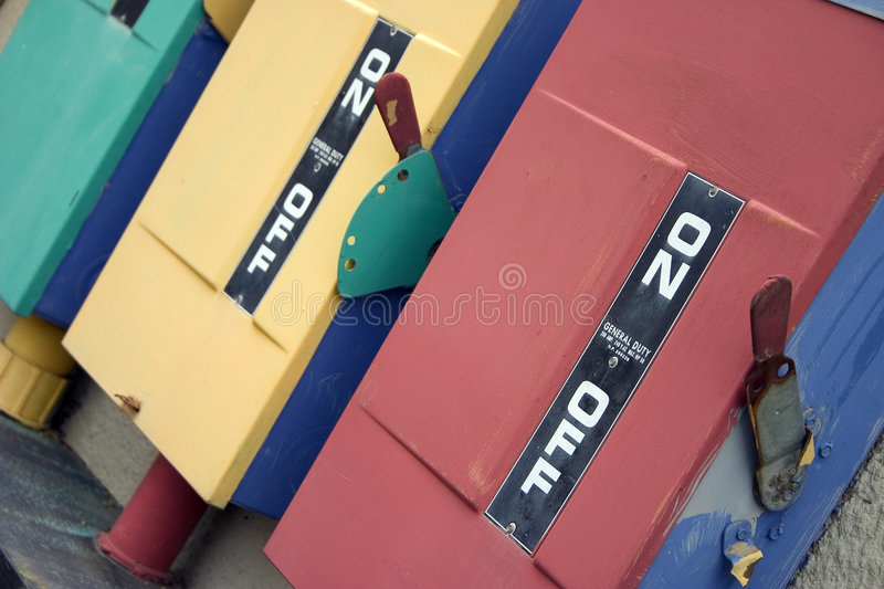 Download On Off stock image. Image of switch, blue, lever, yellow - 1163