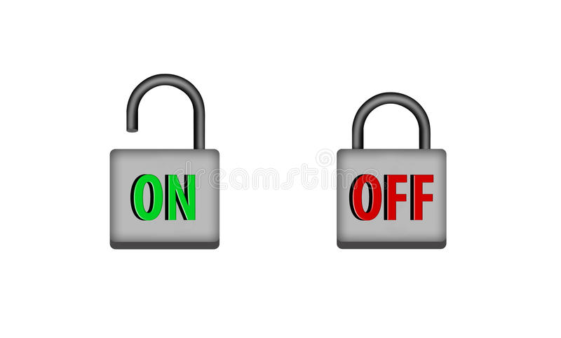 On And Off Stock Photos