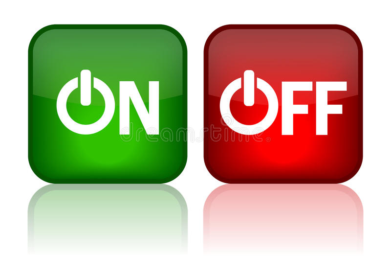 Download On off button stock vector. Image of glossy, clipart - 20921848