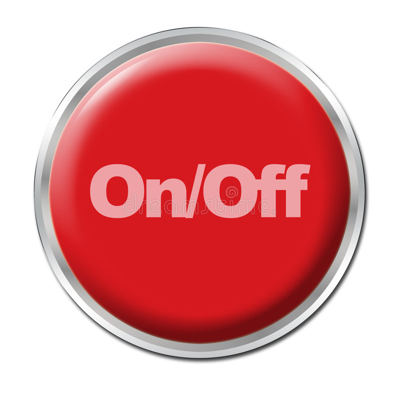 Download On/Off Button stock illustration. Illustration of push - 5308484