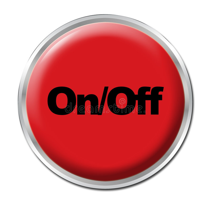 Download On/Off Button stock illustration. Image of push, play - 6138514
