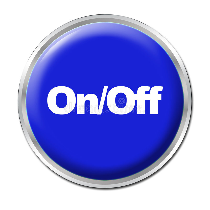 Download On/Off Button stock illustration. Illustration of start - 6167407