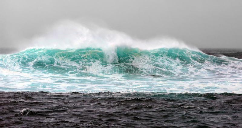Off the coast of Chile. Infinite scenery at the tip of the wave.Off the coast of Chile.The billows ran high.The majestic sea stock photo