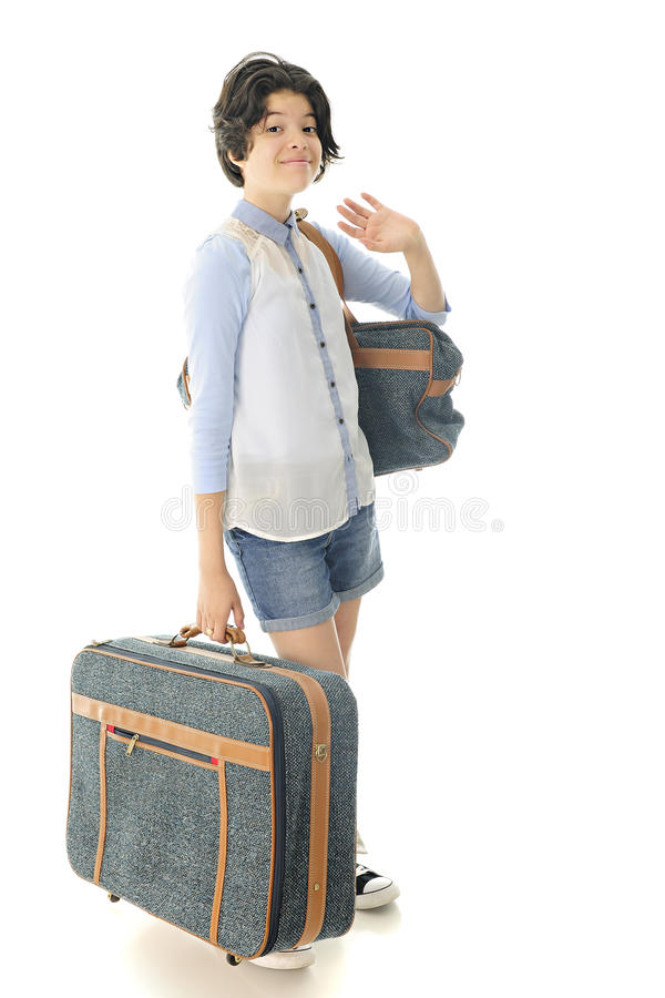 Off on Her Journey royalty free stock image