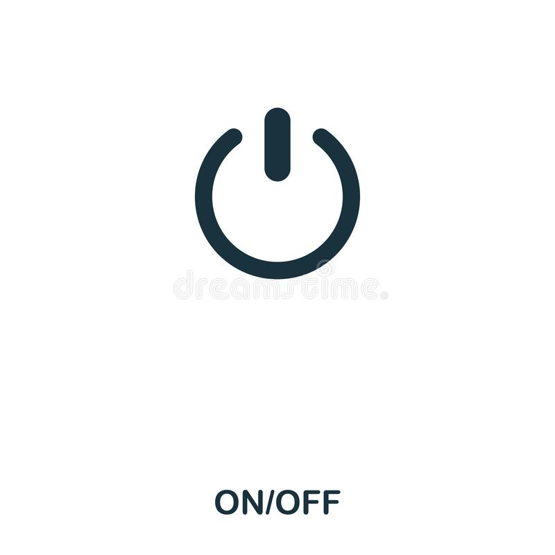 On Off icon. Line style icon design. UI. Illustration of on off icon. Pictogram isolated on white. Ready to use in web stock illustration