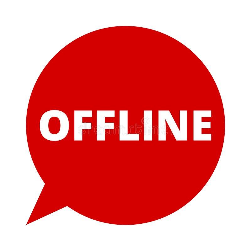 Off-$l*line, λεκτική φυσαλίδα ελεύθερη απεικόνιση δικαιώματος